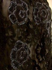 画像8: ヨーロッパ古着 エレガントな総花柄レースデザイン!!さらりと着てお洒落に決まる★クラシカルな ヨーロピアン総レースヴィンテージTOPS (8)
