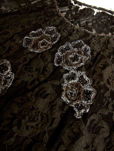 画像3: ヨーロッパ古着 エレガントな総花柄レースデザイン!!さらりと着てお洒落に決まる★クラシカルな ヨーロピアン総レースヴィンテージTOPS