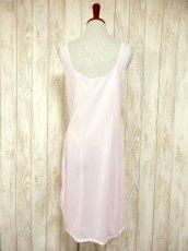画像5: ヨーロッパ古着 ワンピースにはもちろん♪重ね着にも便利で可愛い!!ヨーロッパスリップドレスワンピース オフホワイト×ペールピンク (5)