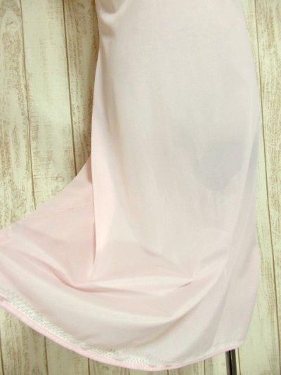画像2: ヨーロッパ古着 ワンピースにはもちろん♪重ね着にも便利で可愛い!!ヨーロッパスリップドレスワンピース オフホワイト×ペールピンク