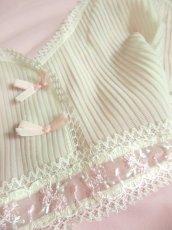 画像8: ヨーロッパ古着 ワンピースにはもちろん♪重ね着にも便利で可愛い!!ヨーロッパスリップドレスワンピース オフホワイト×ペールピンク (8)