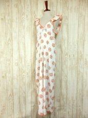 画像2: ヨーロッパ古着×ドイツ製×アンティークフラワー柄が可愛い×大人レトロガーリーなヨーロピアンヴィンテージドレス (2)