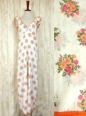 画像1: ヨーロッパ古着×ドイツ製×アンティークフラワー柄が可愛い×大人レトロガーリーなヨーロピアンヴィンテージドレス (1)