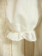 画像6: お花刺繍が素敵 ふんわりパフスリーブ 大人可愛い ヨーロッパ古着 半袖ヴィンテージスモックブラウス【4479】 (6)