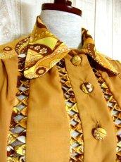 画像3: ヨーロッパ古着×ペイズリー調プリント×レトロポップなスカーフ柄×配色が最高×大人ヴィンテージワンピース×ベルト紐セット (3)