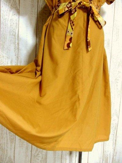 画像2: ヨーロッパ古着×ペイズリー調プリント×レトロポップなスカーフ柄×配色が最高×大人ヴィンテージワンピース×ベルト紐セット