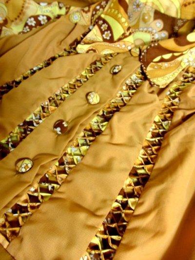 画像3: ヨーロッパ古着×ペイズリー調プリント×レトロポップなスカーフ柄×配色が最高×大人ヴィンテージワンピース×ベルト紐セット