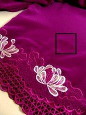 画像10: お花透かし編み刺繍レース 稀少パープルカラー ボリュームある袖も可愛い ヨーロッパ古着 ヴィンテージ刺繍ブラウス【4497】 (10)
