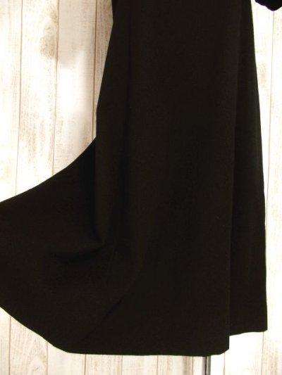 画像2: フラワー刺繍入りレース装飾!!大人レトロクラシカル♪上品な70'sヴィンテージドレス 黒