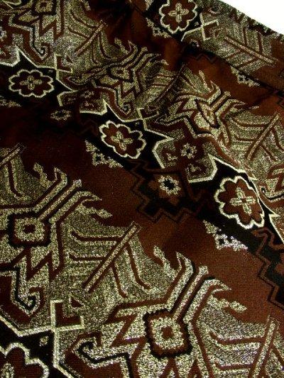 画像2: ☆ ヨーロッパ古着 鈍色ジャガード織り×大人クラシカル♪華やかgoldラメ入り!! ヴィンテージロングスカート ☆