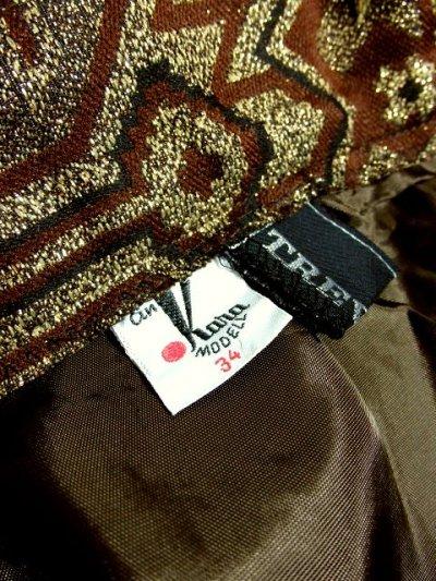 画像3: ☆ ヨーロッパ古着 鈍色ジャガード織り×大人クラシカル♪華やかgoldラメ入り!! ヴィンテージロングスカート ☆