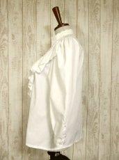 画像8: フリル お花刺繍レースが素晴らしい ホワイト ディアンドル チロルブラウス ドイツ民族衣装 舞台 演奏会 フォークダンス オクトーバーフェスト【4702】 (8)