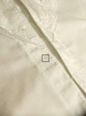 画像10: フリル お花刺繍レースが素晴らしい ホワイト ディアンドル チロルブラウス ドイツ民族衣装 舞台 演奏会 フォークダンス オクトーバーフェスト【4702】 (10)
