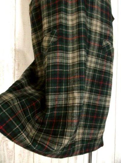 画像2: USA古着 大人ガーリー×チェック柄♪ ざっくりレトロコーデ★ジャンパースカート