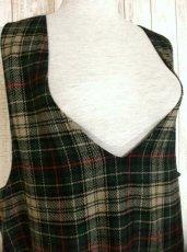 画像3: USA古着 大人ガーリー×チェック柄♪ ざっくりレトロコーデ★ジャンパースカート (3)