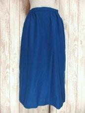 画像1: ☆ USA古着 綺麗なブルーカラー♪レトロアンティークヴィンテージウールスカート ☆ (1)