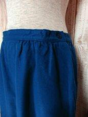 画像6: ☆ USA古着 綺麗なブルーカラー♪レトロアンティークヴィンテージウールスカート ☆ (6)