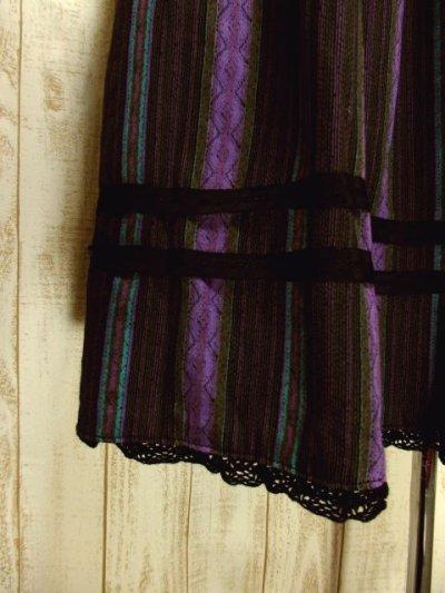 画像2: ストライプ柄×リボンテープ×レース装飾 クラシカルな配色バランスが素晴らしい チロルスカート ドイツ民族衣装 舞台 演劇 演奏会 フォークダンス オクトーバーフェスト 【4748】