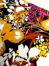 画像10: 70年代 サイケ 花柄 フレア袖 レトロ ヨーロッパ古着 ヴィンテージドレス 【4806】  (10)