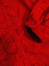画像9: アンティークレース使い たっぷりボリューム袖デザイン おしゃれ上級者アイテム ディアンドル チロルブラウス ドイツ民族衣装 舞台 演奏会 フォークダンス オクトーバーフェスト【4812】 (9)