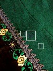 画像9: ヨーロッパ古着×ベロアフラワー刺繍×ブレード装飾×大人可愛いチロル調ヨーロピアンヴィンテージドレス (9)
