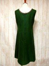 画像5: ヨーロッパ古着×ベロアフラワー刺繍×ブレード装飾×大人可愛いチロル調ヨーロピアンヴィンテージドレス (5)