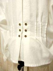 画像6: 西ドイツ製 House×Tree 刺繍 ぺプラム調ライン ホワイト ディアンドル チロルブラウス ドイツ民族衣装 舞台 演奏会 フォークダンス オクトーバーフェスト 【4833】 (6)
