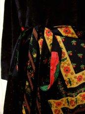 画像4: ベロア 花柄 ドット柄 西ドイツ製 ベルトリボンSET レトロ 長袖 ヨーロッパ古着 ヴィンテージドレス 【4855】 (4)