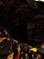 画像7: ベロア 花柄 ドット柄 西ドイツ製 ベルトリボンSET レトロ 長袖 ヨーロッパ古着 ヴィンテージドレス 【4855】 (7)