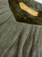 画像7: リネン×ベロア×クロステッチ刺繍装飾 ベルトSET チロルスカート ドイツ民族衣装 舞台 演劇 演奏会 フォークダンス オクトーバーフェスト 【4923】 (7)