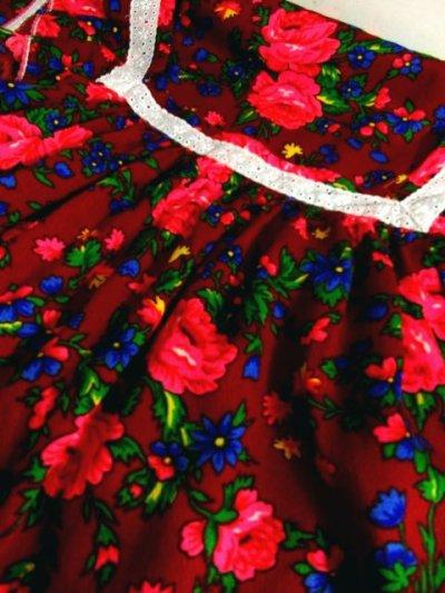 画像3: ヨーロッパ古着 大人レトロポップガーリー♪アンティークフラワー×レース装飾!! ふんわり大人可愛いヴィンテージワンピース