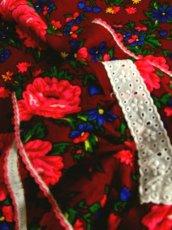画像9: ヨーロッパ古着 大人レトロポップガーリー♪アンティークフラワー×レース装飾!! ふんわり大人可愛いヴィンテージワンピース (9)
