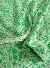 画像10: 花柄 レース装飾 バックウエストリボン レトロ 長袖 ヨーロッパ古着 ヴィンテージワンピースドレス 【4998】 (10)