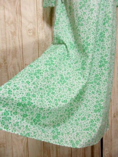 画像2: 花柄 レース装飾 バックウエストリボン レトロ 長袖 ヨーロッパ古着 ヴィンテージワンピースドレス 【4998】