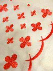 画像11: 70'sヴィンテージ!! 贅沢なぷっくりフラワー刺繍が素晴らしい♪ キレイなシルエットライン★ 大人レトロアンティークスタイル♪ヴィンテージドレス (11)