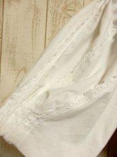 画像8: ショート丈 ホワイト マルチレースライン装飾 パフスリーブ ディアンドル ヴィンテージブラウス ドイツ民族衣装 舞台 演奏会 フォークダンス オクトーバーフェスト【5027】 (8)