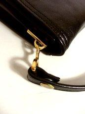 画像8: 70's レザー ブラック レディース レトロ ヴィンテージ ショルダー 鞄 バッグ【5049】 (8)