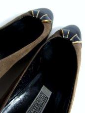 画像8: パンプス イタリア製 スエード レザー バイカラー ヴィンテージ レトロ 23.5cm (8)