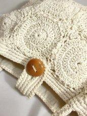 画像3: かぎ編みデザイン ホワイト カタチが可愛らしい ナチュラルガーリー レディース レトロ 鞄 バッグ【5116】 (3)