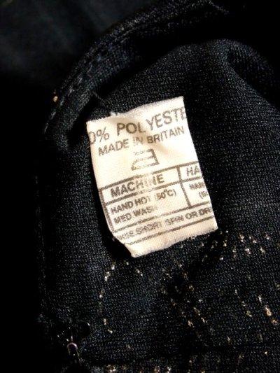 画像3: イギリス製 花柄 ウエストフリル切り替えし ブラック 長袖 レトロ 上品 ヨーロッパ古着 ヴィンテージドレス 【5181】