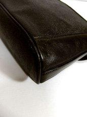 画像9: 大きめサイズ ブラック 本革レザー レディース レトロ ショルダー 鞄 バッグ【5210】 (9)
