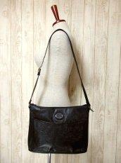 画像3: 大きめサイズ ブラック 本革レザー レディース レトロ ショルダー 鞄 バッグ【5210】 (3)