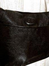 画像6: 大きめサイズ ブラック 本革レザー レディース レトロ ショルダー 鞄 バッグ【5210】 (6)