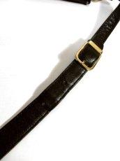 画像12: 大きめサイズ ブラック 本革レザー レディース レトロ ショルダー 鞄 バッグ【5210】 (12)
