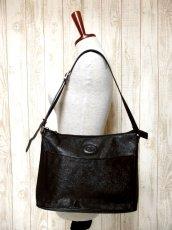 画像13: 大きめサイズ ブラック 本革レザー レディース レトロ ショルダー 鞄 バッグ【5210】 (13)