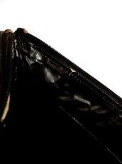 画像15: 大きめサイズ ブラック 本革レザー レディース レトロ ショルダー 鞄 バッグ【5210】 (15)