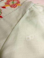 画像10: ヨーロッパ古着 ポップで可愛らしいお花刺繍装飾♪ レッドカラーのパイピングもPOINT!! ふんわり乙女ガーリーヴィンテージドレス (10)