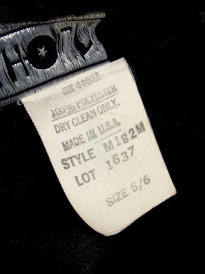 画像3: スパンコール ブラック レース装飾 レトロ 長袖 USA古着 ヴィンテージオールインワン 【5257】