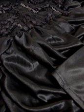 画像13: スパンコール ブラック レース装飾 レトロ 長袖 USA古着 ヴィンテージオールインワン 【5257】 (13)