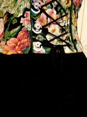 画像10: アンティークフラワー切り返しデザイン 大きなリボン装飾×ウエストリボン結び ディアンドル チロルワンピース ドイツ民族衣装 舞台 演奏会 フォークダンス オクトーバーフェスト 【5275】 (10)